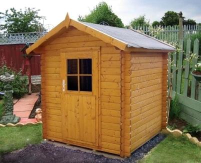 Casetas de jard n construidas en madera de pino n rdico for Casetas para terrazas segunda mano